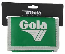 MENS / BOYS GOLA CLASSIC NYLON WALLET WITH ZIP COIN POCKET - APPLE / WHITE