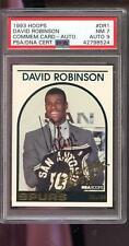 1993 Hoops Commemorative #DR1 David Robinson AUTO Autograph Card PSA 7 PSA/DNA