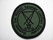 sigil of lucifer BLACK   EMBROIDERED PATCH