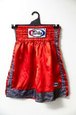 Fairtex Red Trunks Mma Shorts Muay Thai Kick Boxing Satin Fighting Size Medium