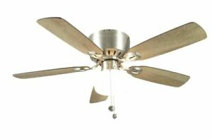 Kennesaw 42 in. Indoor Brushed Nickel Ceiling Fan with Light