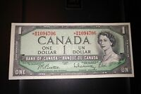 1954 Replacement $1 Dollar Bank of Canada Banknote *BM1094706 EF-AU