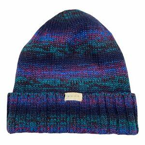NEFF Unisex Mens Womens Navy Page Beanie Knit Hat