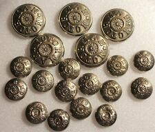 Vintage American Railway Supply Co. 24 Park Place NY 19 Motor Man Buttons