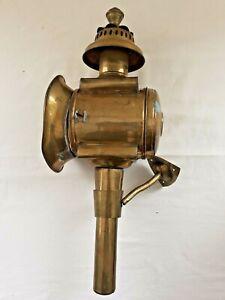 Brass Oil Carriage Lantern Red Lamp Vintage
