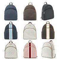 Michael Kors Large Abbey Backpack PVC Leather Trim