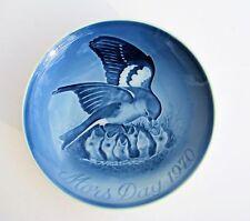 B&G 1970 Mors Dag (Mothers Day) Bird Family Porcelain Hanging Plate Denmark