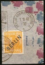 Germany - Berlin 1948 25 Pf, Black Ovpt. Scott 9N10
