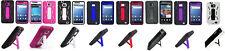 Kickstand Armor Hybrid Cover Case for Samsung Galaxy S II 2 SGH-i777 Phone