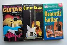 Beginning Guitar Introduction Electric & Acoustic Basics VHS Tape Lot #2