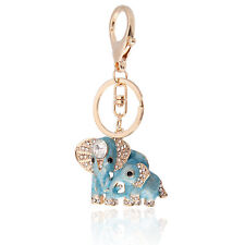 Handbag Buckle Charms Accessories Two Blue Elephants Keyrings Key Chains HK1