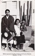 * ECUADOR - Bellos exponentes de Raza Indigena del Canton Otavalo 1964