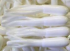 "1.5"" Crappie Tube Jig Skirts     100pk    Pure White"