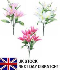 Lily Flower Bouquet Bush 6 HEAD Assorted Colours Wedding Floral Rose Decoration