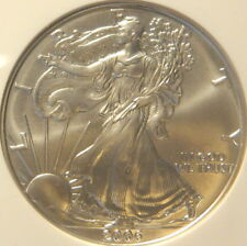 2006 W & P SILVER EAGLE, NGC,  MS 69, PF 69, PF 69, 20TH ANNIVERSARY SET 3 COINS