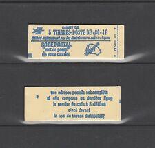 timbre France  Palissy  violet    Pa 26c  carnet de 5  avec  date  en marge