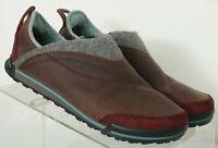 Teva Haley 1001461 Brown Leather Comfort Hard Sole Slip On's Women's US 7.5