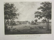 1779 DATED PRINT ~ BURTON CONSTABLE YORKSHIRE ~ THE SEAT OF WILLIAM CONSTABLE