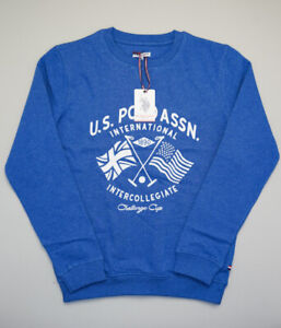 U.S. Polo ASSN Challenge Cup College Pullover Jumper Sweater Kids 14-15y 164-170