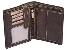 Geldbeutel Kombibörse mit Riegel LEAS im Vintage/Used-Stil in Echt-Leder, braun
