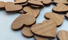 50 Streudeko Holz Herz Tischdeko Blanco Natur  Hochzeit Dekoherzen Streuteile