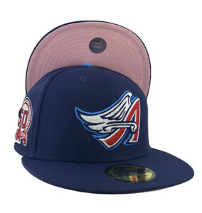 Los Angeles Angels 50th Anniversary Side Patch pink UV New Era Fitted Hat