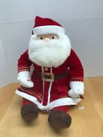 "HALLMARK POLAR EXPRESS SANTA CLAUS TALKING PLUSH w/ Bell 17"" 25469"