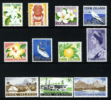 COOK ISLANDS QE II 1963 Complete Pictorial Set SG 163 to SG 173 MINT