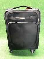 Samsonite Rolling 4 wheel Spinner Briefcase Weekender Carryon Black Wheeled