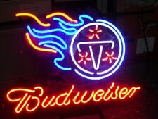 """TENNESSEE TITANS FOOTBALL JERSEY CARD BEER BAR POSTER NEON LIGHT SIGN 17""""X14"""""""