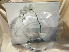"Oval Elegant Shaped Glass Vase 12"" Tall"