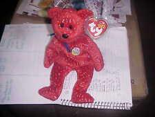 RETIRED TY BEANIE BABIES**DECADE the 10th ANNIV BEAR*RED*B-D JAN 22, 2003**MWMT