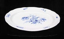 Ovale Servierplatte original MEISSEN Porzellan Blumenbukett blau Platte 49cm #2