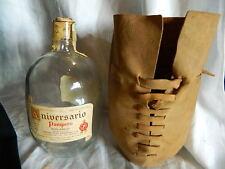 1963 Aniversario Pampero Ron Anejo bottle & leather pouch bag empty Venezuela