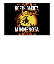 Just A North Dakota Witch In Minnesota World Sticker - Landscape