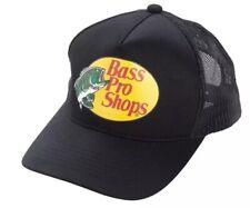 Authentic Bass Pro Shops Logo Mesh Cap Adjustable SnapBack, Black