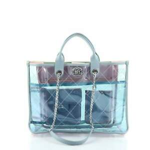 Chanel Coco Splash Shopping Tote Quilted PVC With Lambskin Medium