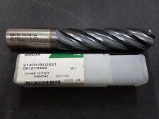 "WIDIA™ HANITA™ 1 inch HSS 1""x1x4x6.1/2 Coated Radius R.375"" (9.52) Long Endmill"