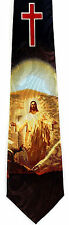 Light Of Jesus Mens Necktie Religious Christian Christ Blue Easter Neck Tie New