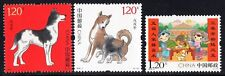 CHINA 2018- 1 & 2018-2 YEAR of the DOG and NEW YEAR GREETING stamps, MINT NH