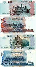 CAMBOGIA CAMBODIA KAMPUCHEA 500 RIELS 2004 + 1000 RIELS 2005