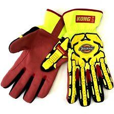 Builders Work Gloves Impact Cut Protection Heavy Duty Rigger Leather Hi Viz MTB