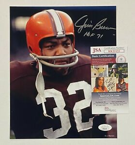 "Jim Brown "" HOF 1971 "" Signed 8x10 Photo Autographed JSA COA Cleveland Browns"