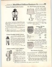 1950 PAPER AD 5 PG Coleman Gas Gasoline Lantern Lamp Specs Parts Repair Drawings