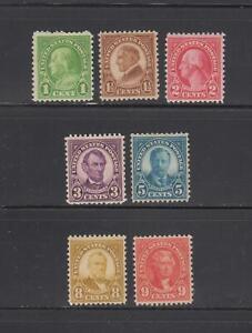 US,632/641,1926-1928 REGULAR ISSUES,MNH,MINT NH