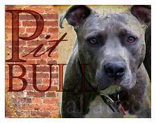 PIT BULL TERRIER DOG Art Print Poster--Vintage Series Wendy Presseisen