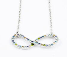 Patricia Locke Tranquility Crystal Infinity Loop Silver-Tone Necklace $165