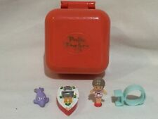 polly pocket 1991 Lulu and her speedboat ring case 100% Complete RARE