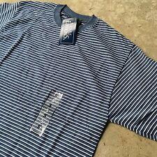 90s VTG NWT Striped GRUNGE T Shirt SURF Gray RINGER Navy Blue S SKATE 50/50 Soft