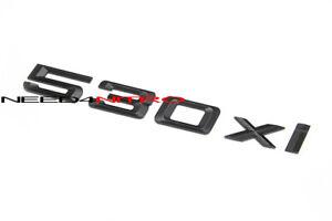 For BMW 5 Series 530xi Matte Black Letters Lid Trunk Emblem Logo Decal Sticker